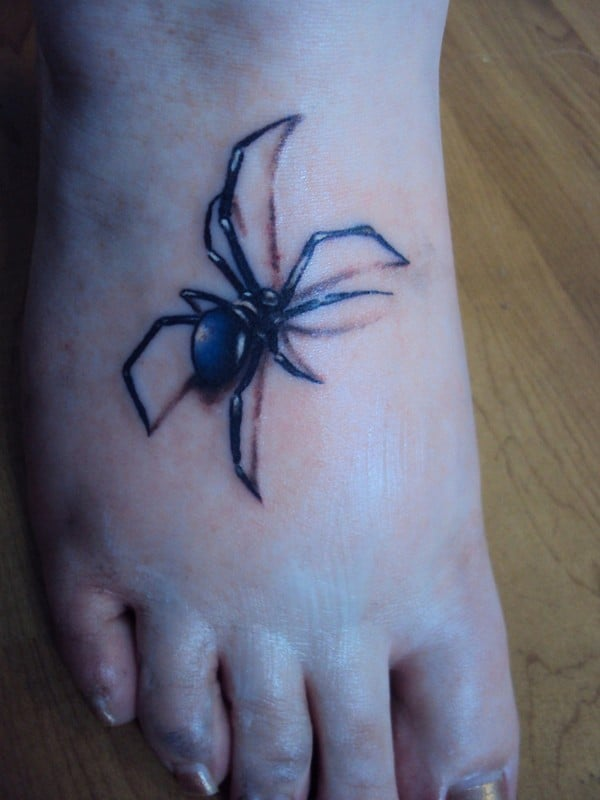 Crawling Spider Tattoo