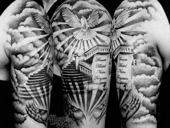 100 charming dove tattoos and meanings march 2018 dove tattoo voltagebd Choice Image