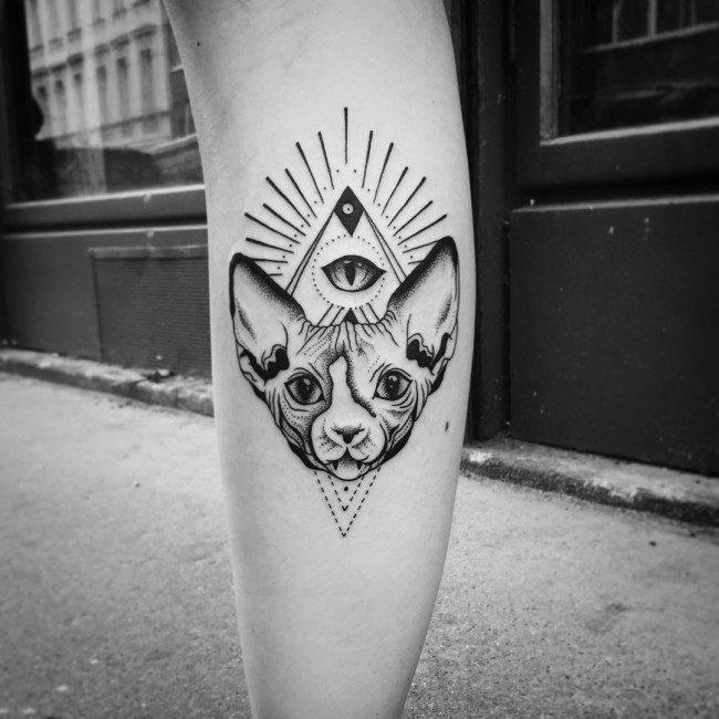 a68d69d76a851 Owls are often incorporated into geometric tattoos as they help add a  further layer of meaning to an already complex design.