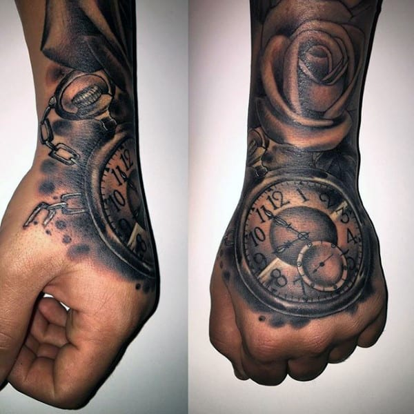 200 popular pocket watch tattoo and meanings april 2018 part 4. Black Bedroom Furniture Sets. Home Design Ideas