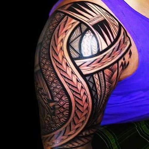 Hawaiian Band Tribal Tattoos
