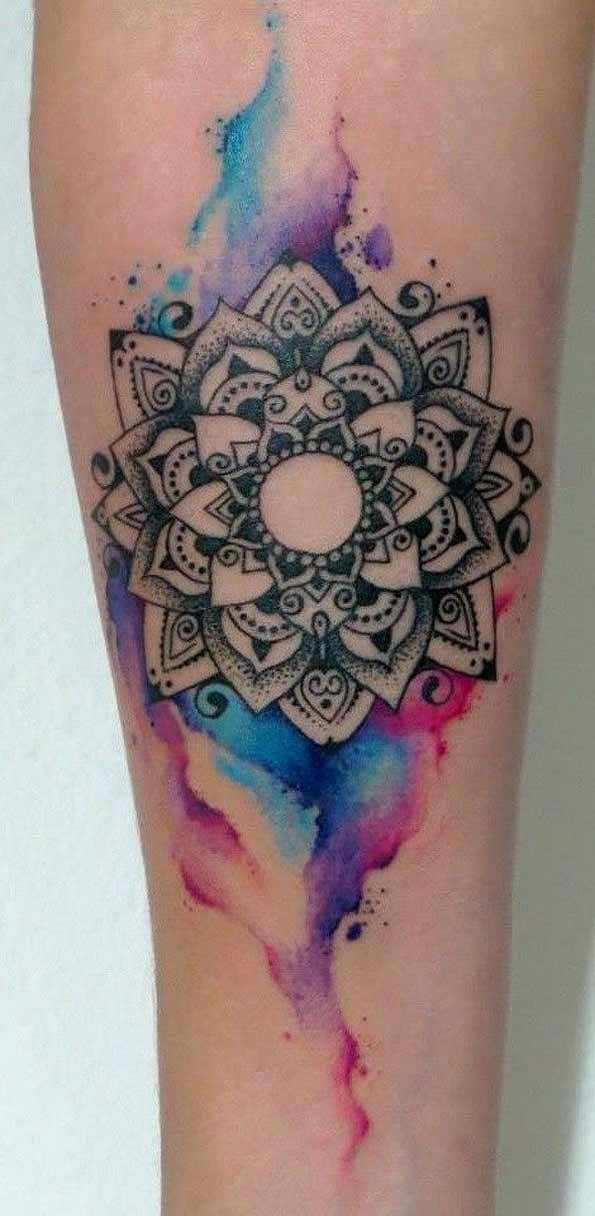 Watercolor mandala design