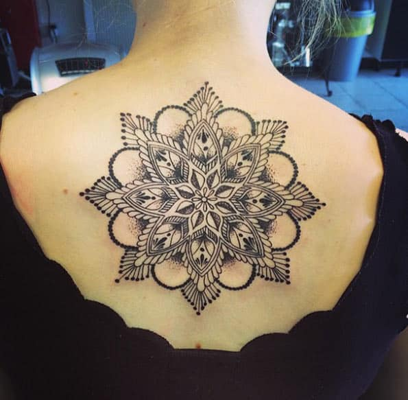 Mandala back piece by Caron-Marie