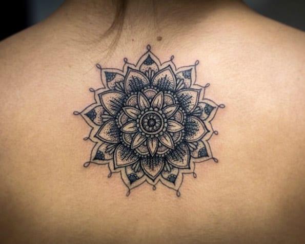 Dynamic mandala flower by Kristi Walls