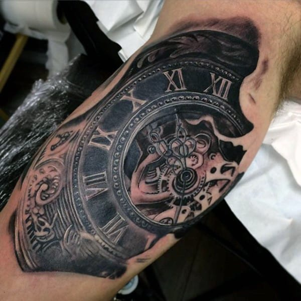 150 Artistic Watercolor Tattoos Ideas April 2018: 200 Popular Pocket Watch Tattoo And Meanings (April 2018