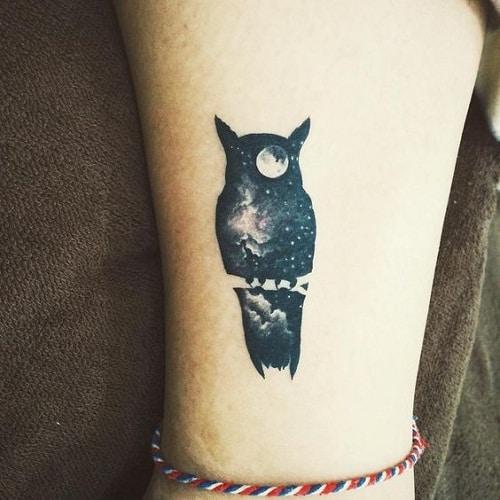 Midnight Sky Owl Tattoo