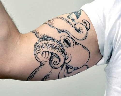 Octopus Tattoo On Arm For Men