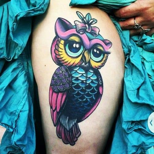 Pretty Owl Tattoo