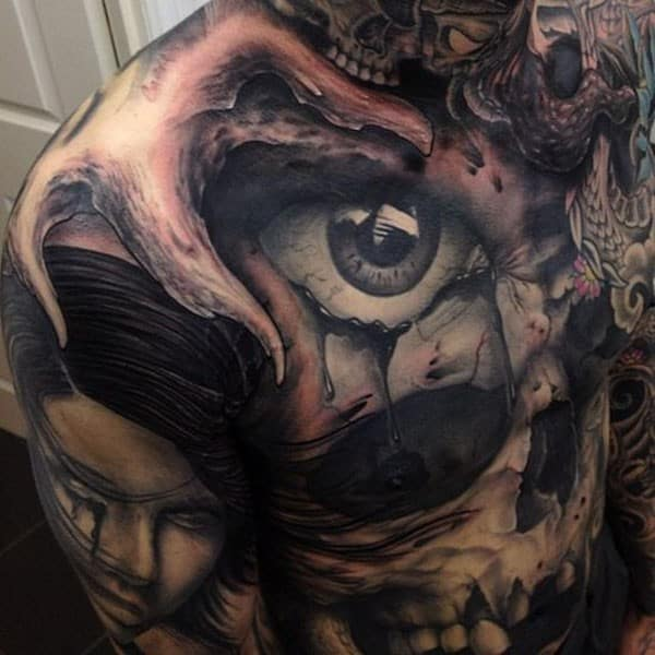 Scary 3D Tattoos