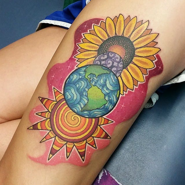 150 Meaningful Sun Tattoos (Ultimate Guide, June 2019