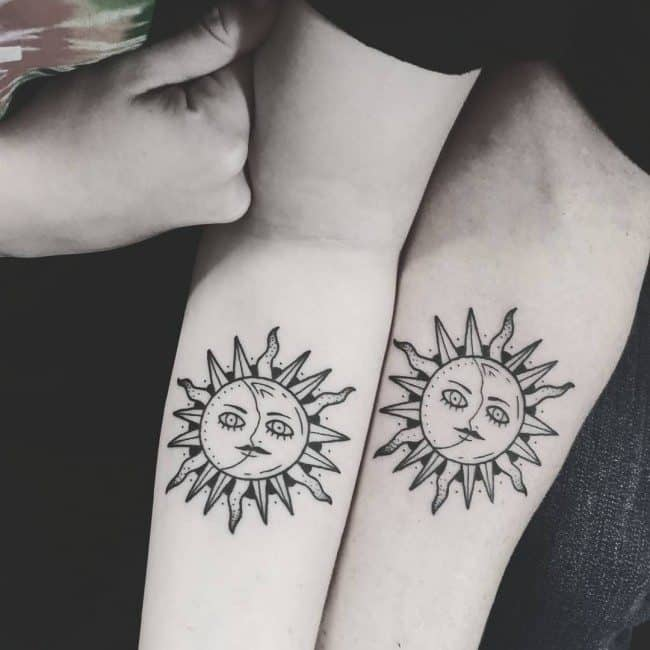 d7dbf61961ee9 The sun is a very important thing in the lives of human beings. This is one  reason why a lot of people are acknowledging its existence through  tattooing it ...