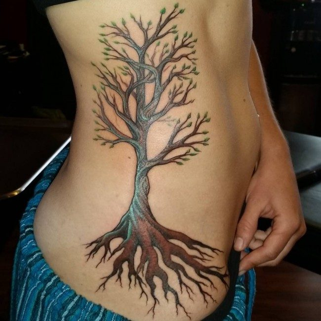 Oak Tree With Roots Tattoo: 150 Meaningful Tree Tattoos (Ultimate Guide, May 2019