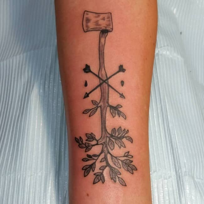150 meaningful tree tattoos ultimate guide september 2018 for Birch tree tattoo meaning
