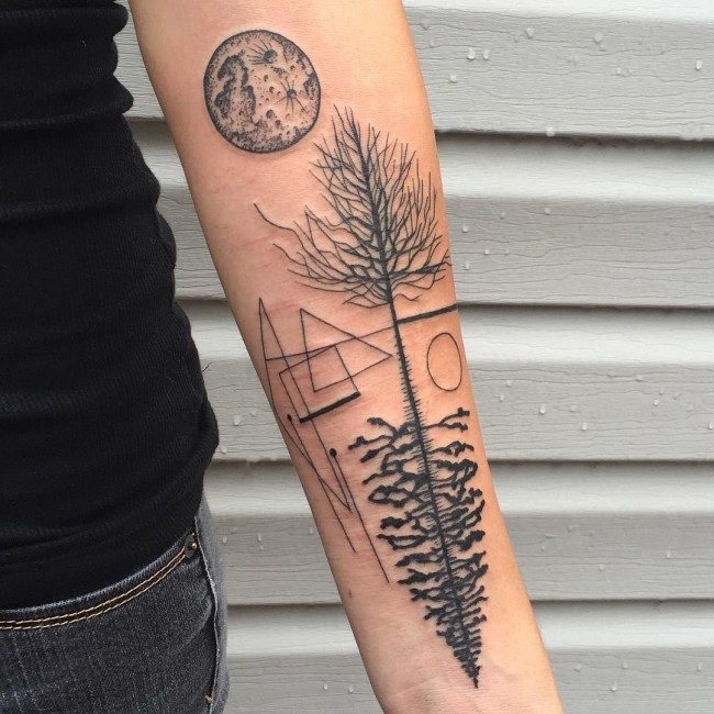65a9414fe Some other design elements which may be incorporated with tree art tattoos  are birds, dreamcatcher, feathers, anchors, arrow, compass, flowers,  clouds, ...