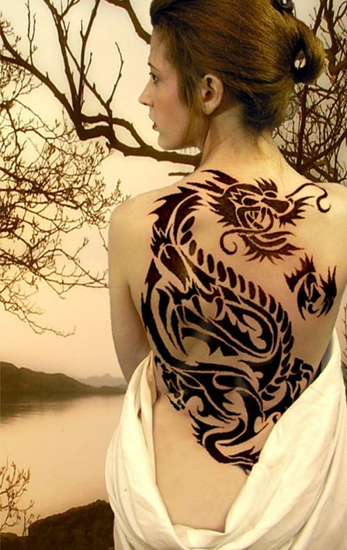 Unique Dragon Tribal Tattoos