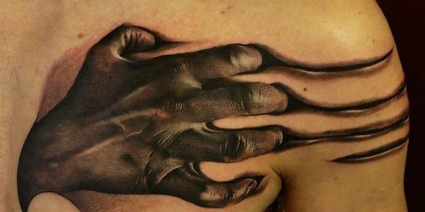 Weird 3D Tattoos