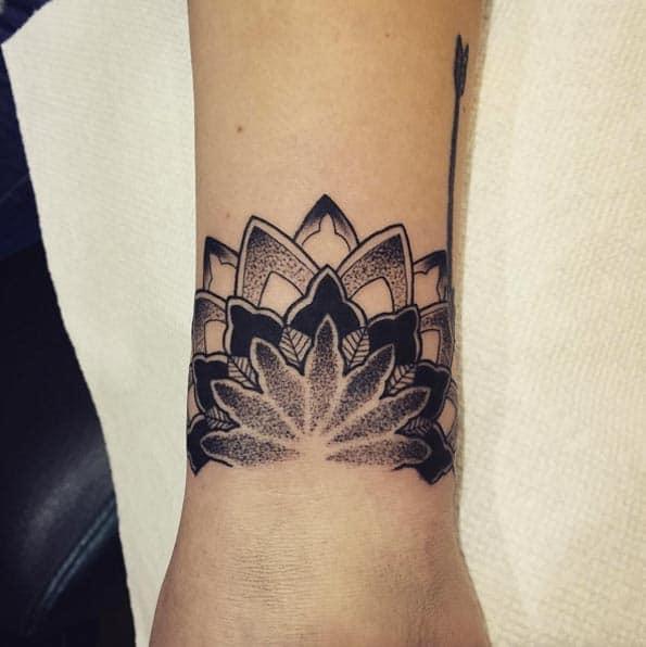 Mandala Wrist Tattoo by Daniel Baker