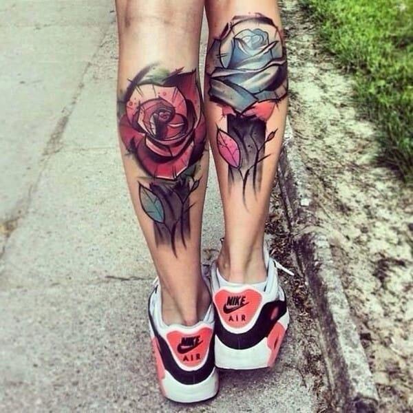Rose-Calf-Tattoo