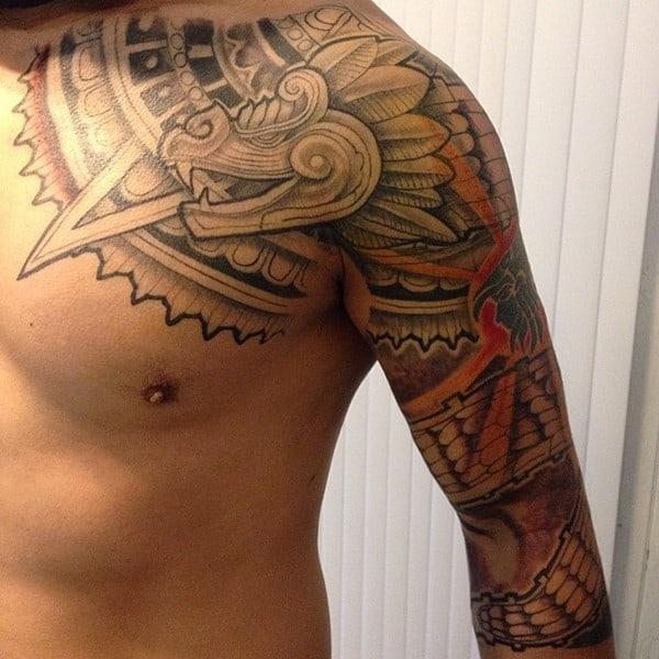 100 stunning tribal aztec tattoos june 2018 rh thestyleup com mexican tribal tattoos for men mexican tribal tattoos for men