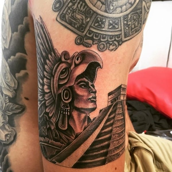 100 stunning tribal aztec tattoos 2017 collection part 2 for Aztec lion tattoo meaning