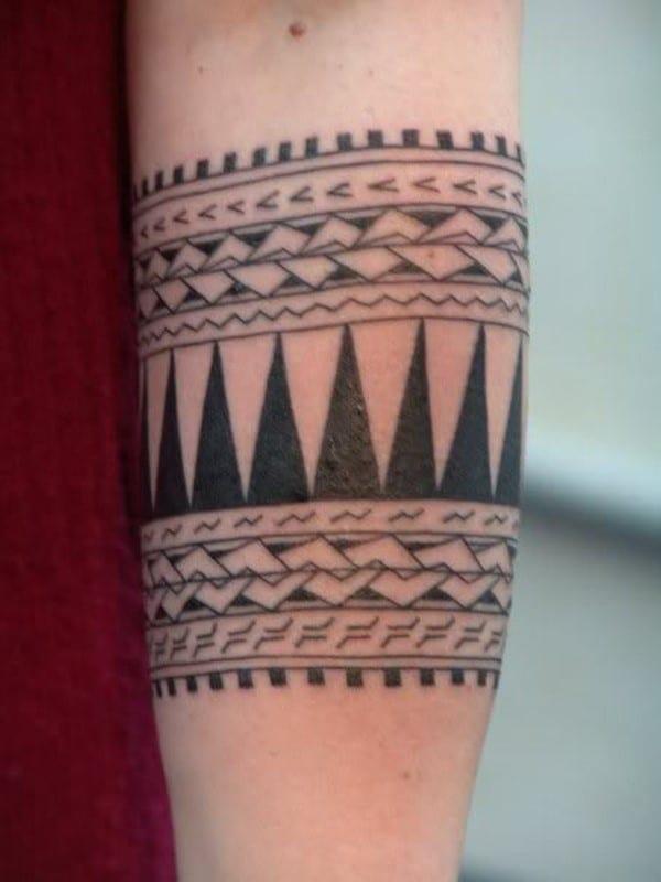 aztec forearm tattoo