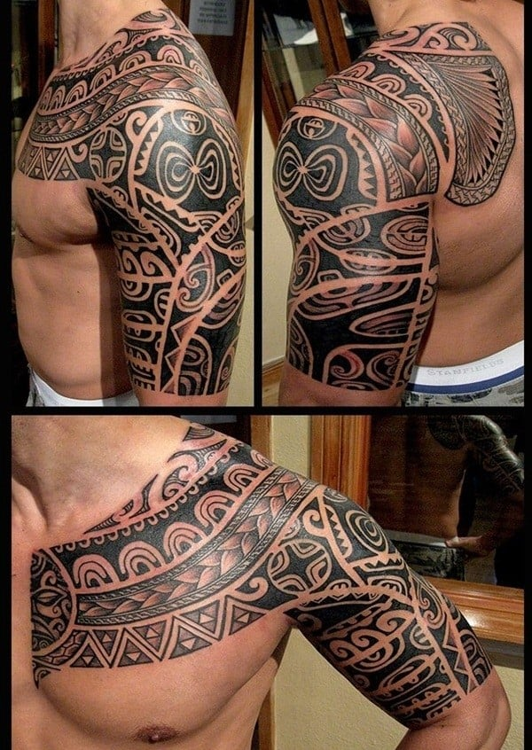 150 Tribal Aztec Tattoos For Men (Ultimate Guide 2019)Aztec Tribal Patterns Tattoos