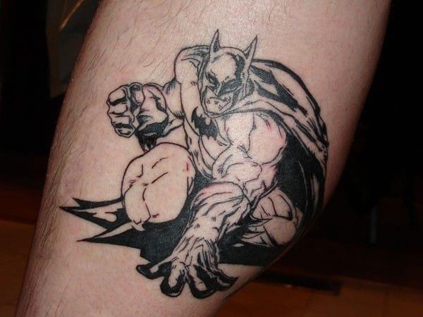 batman-leg-tattoo