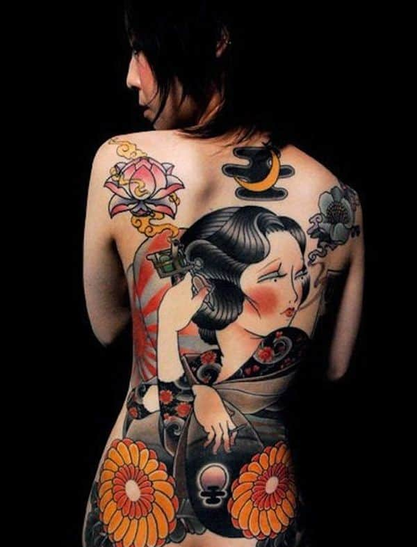 body female Asian tattoo