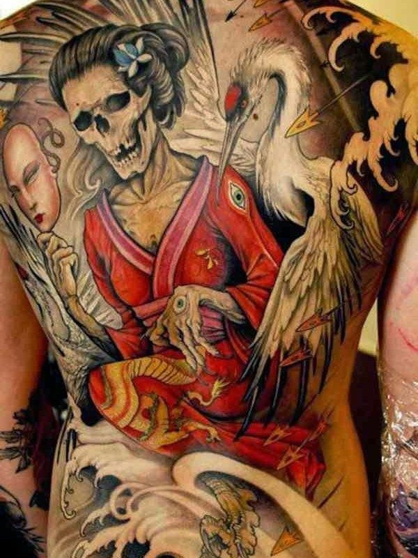 150 meaningful japanese tattoos ultimate guide august 2019 - Tattoos geishas japonesas ...