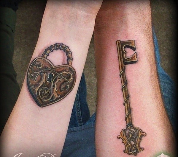 key-tattoo-with-lock