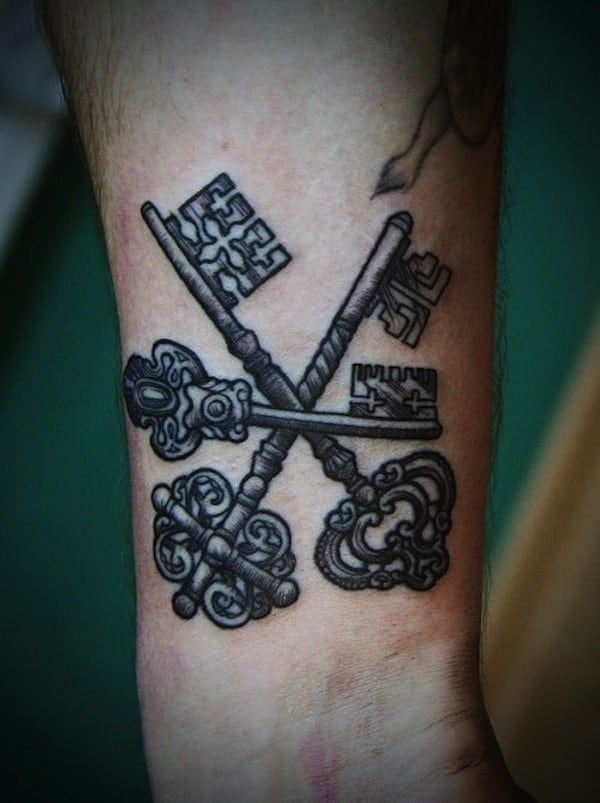 key-tattoo-wrist