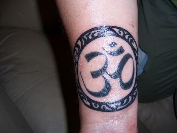 om-round-tattoo