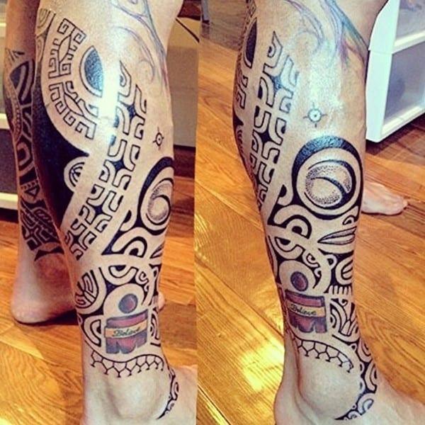 polynesian-tattoo-on-foot