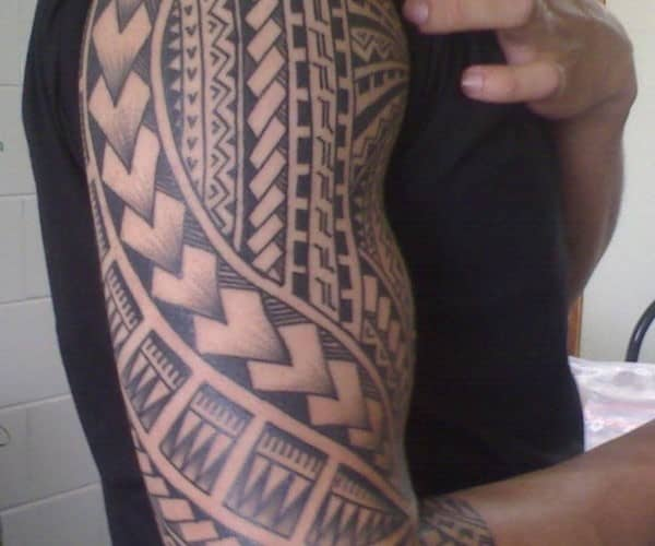 samoan-half-sleeve-tattoo