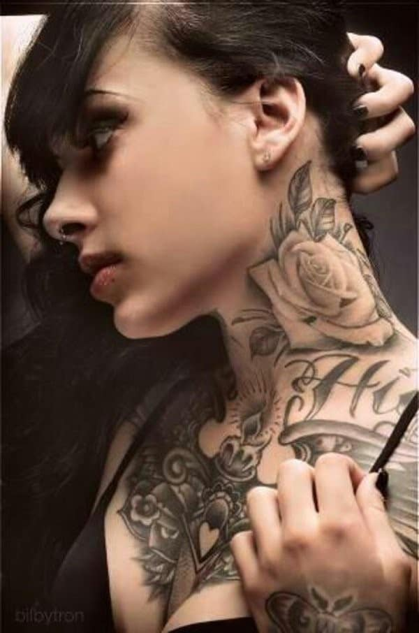 11Rose-tattoo-on-neck-for-women
