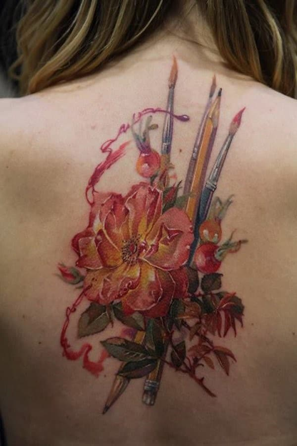 17-Look-Like-Painting-tattoos-for-women