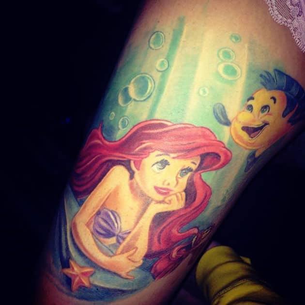 32-ariel-the-little-mermaid-tattoo