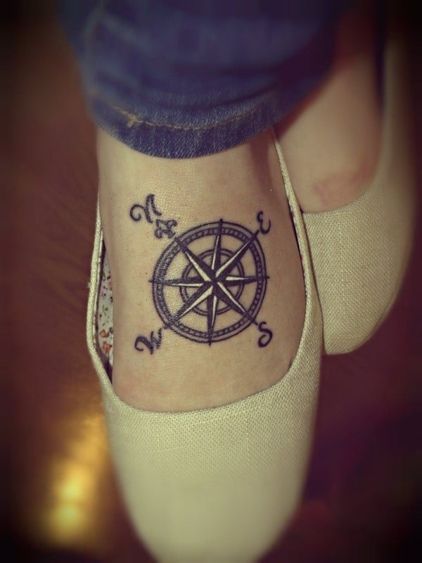 Compass-Foot-Tattoo