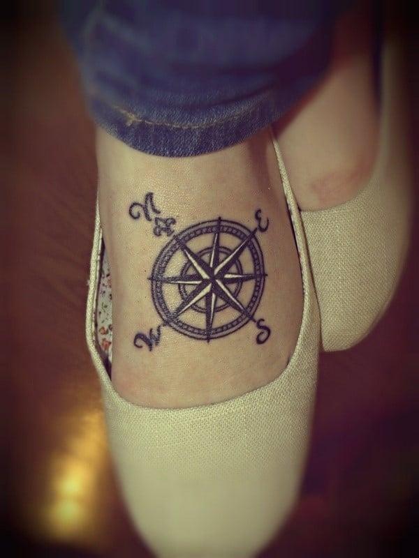 Compass-Foot-Tattoo