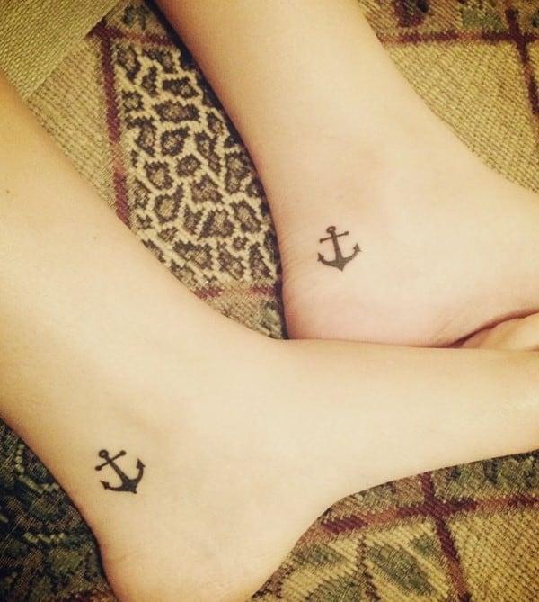 Cute-sister-matching-anchor-tattoos