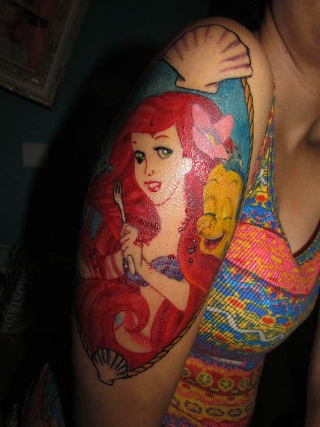 ariel-funny-little-mermaid-tattoo