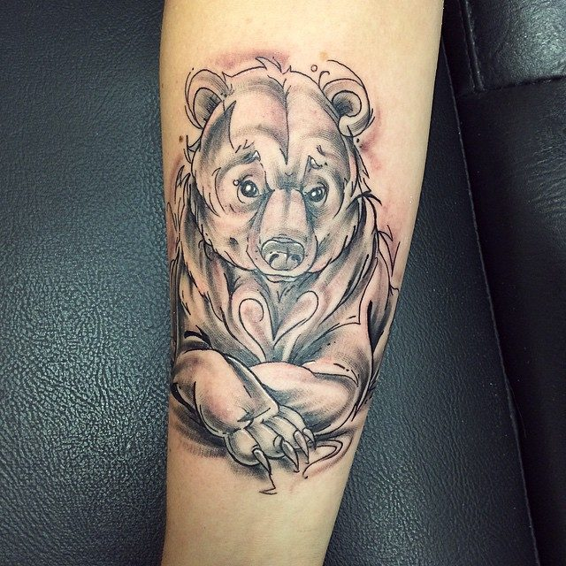 Bear Tattoo With Cub: 130 Cute Bear Tattoos And Meanings (July 2018