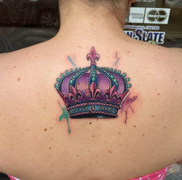 Colorful Crown Tattoo by Frankie Oneshot