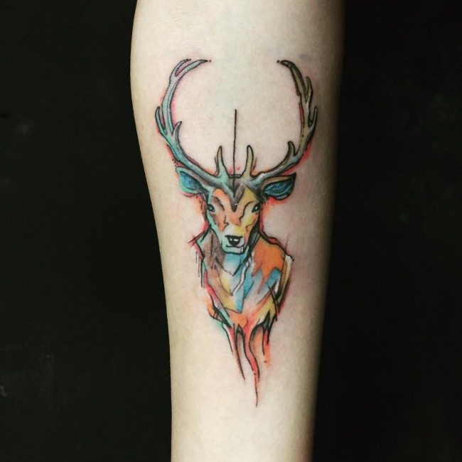 27eeb30e4c151 150 Meaningful Deer Tattoos (An Ultimate Guide, July 2019)