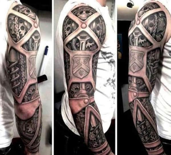 gear-tattoos-for-men