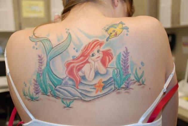 huge-back-little-mermaid-tattoo