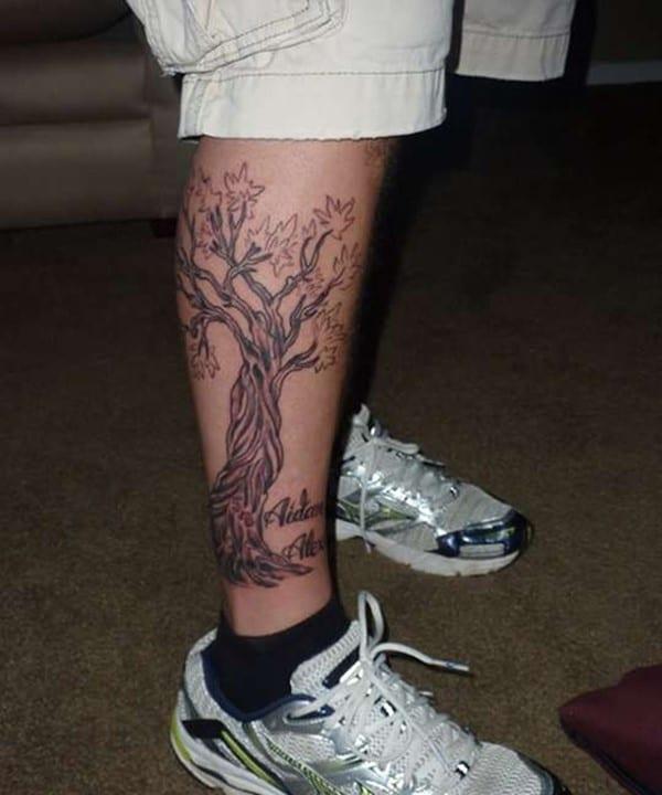 leg-family-tree-tattoo