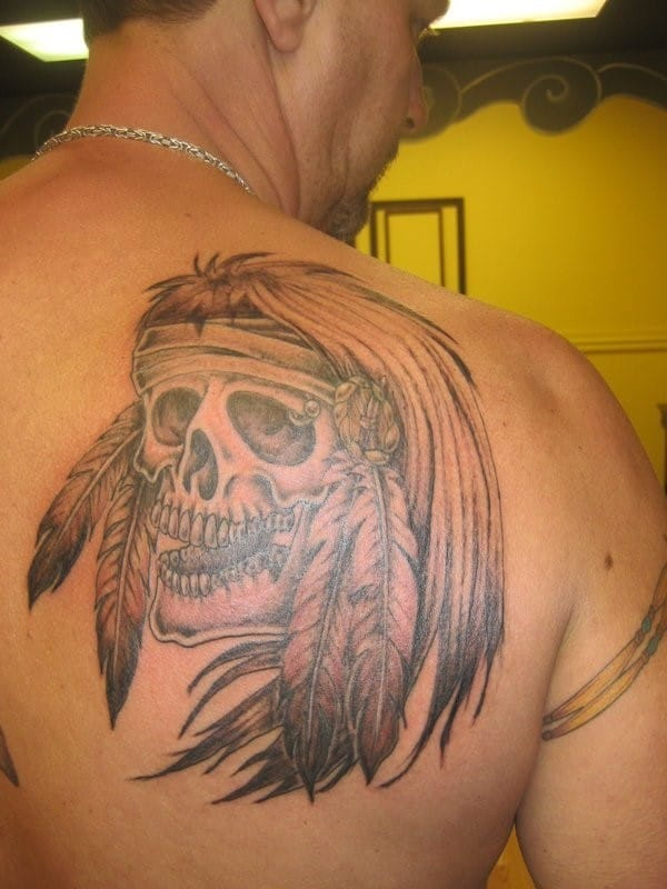 native-american-skull-tattoo