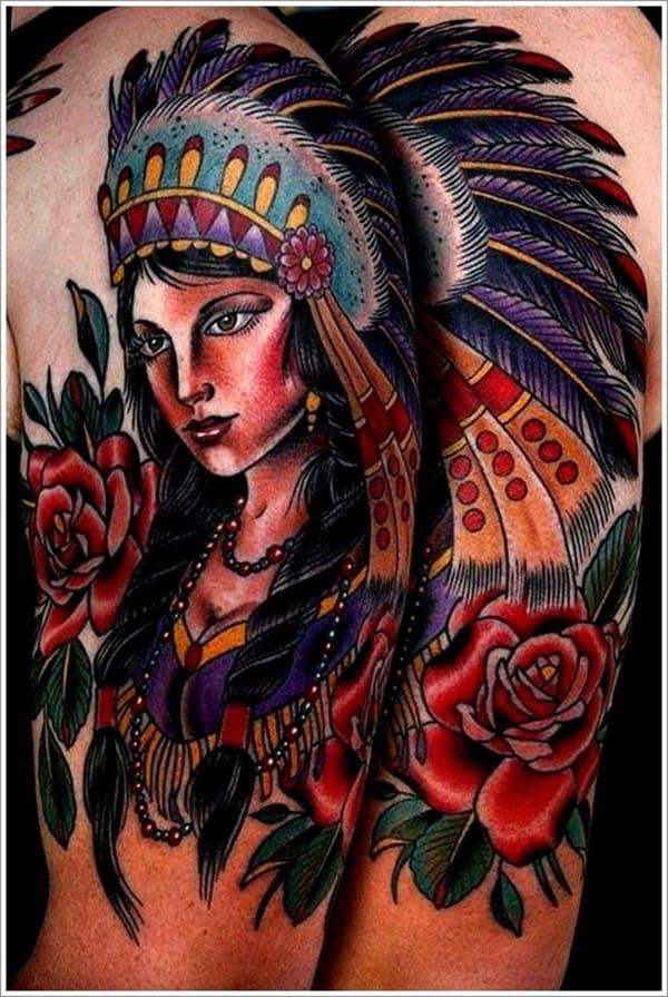 113 Mesmerizing Native American Tattoos July 2019