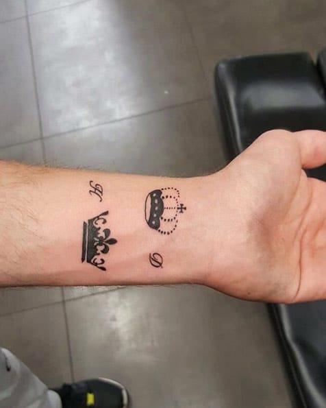 Sibling Crown Tattoos by Rahmas